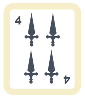 4 de Espadas